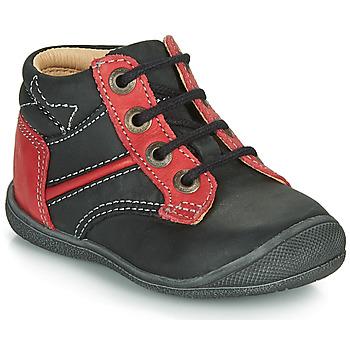 Pantofi Băieți Ghete Catimini RATON Negru / Roșu