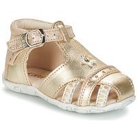 Pantofi Fete Sandale și Sandale cu talpă  joasă GBB SUZANNE Auriu