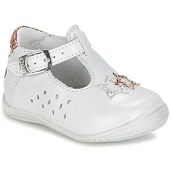 Pantofi Fete Balerin și Balerini cu curea GBB SEVERINE Alb