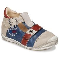 Pantofi Băieți Sandale  GBB STANISLAS Albastru / Bej / Roșu