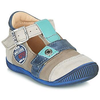 Pantofi Băieți Sandale și Sandale cu talpă  joasă GBB STANISLAS Vtc /  taupe-albastru / Dpf / Raiza