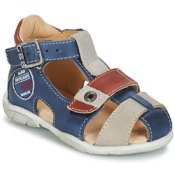 Pantofi Băieți Sandale  GBB SULLIVAN Albastru / Bej / Maro