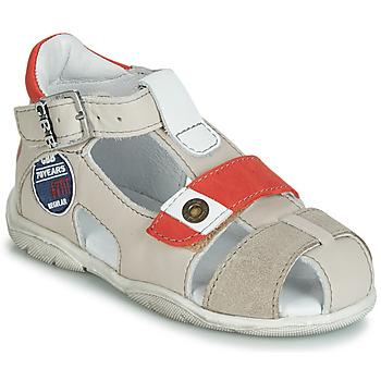 Pantofi Băieți Sandale și Sandale cu talpă  joasă GBB SULLIVAN Bej / Roșu