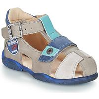 Pantofi Băieți Sandale și Sandale cu talpă  joasă GBB SULLIVAN Gri / Albastru