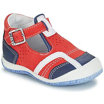 Pantofi Băieți Sandale  GBB SIGMUND Roșu / Albastru