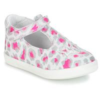 Pantofi Fete Balerin și Balerini cu curea GBB SABRINA Gri / Roz / Alb