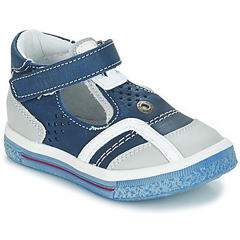 Pantofi Fete Balerin și Balerini cu curea GBB SALVADORE Albastru / Gri
