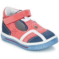 Pantofi Fete Balerin și Balerini cu curea GBB SALVADORE Roșu / Albastru