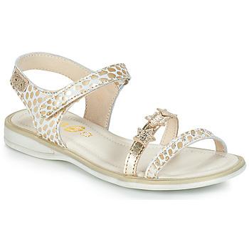 Pantofi Fete Sandale  GBB SWAN Alb / Auriu