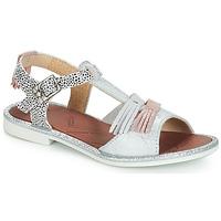 Pantofi Fete Sandale și Sandale cu talpă  joasă GBB MARIA Argintiu / Alb