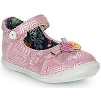 Pantofi Fete Balerin și Balerini cu curea Catimini SITELLE Roz / Argintiu