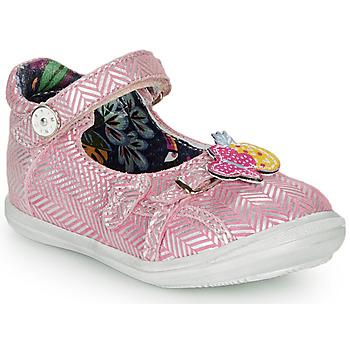 Pantofi Fete Balerin și Balerini cu curea Catimini SITELLE Vte /  roz-argintiu / Dpf / 2851