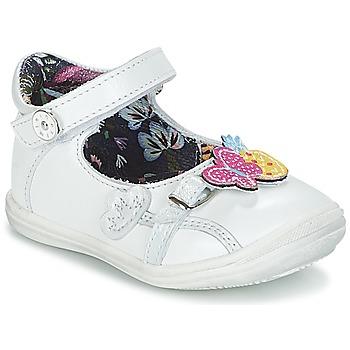 Pantofi Fete Balerin și Balerini cu curea Catimini SITELLE Alb