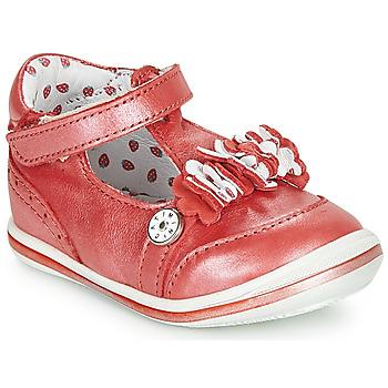 Pantofi Fete Balerin și Balerini cu curea Catimini SANTOLINE Roșu