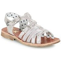 Pantofi Fete Sandale și Sandale cu talpă  joasă Catimini SAULE Argintiu / Roz