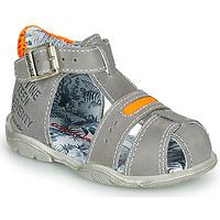 Pantofi Băieți Sandale și Sandale cu talpă  joasă Catimini SPHINX Gri / Portocaliu