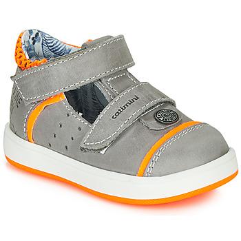 Pantofi Băieți Sandale  Catimini SAUTERIAU Gri / Portocaliu
