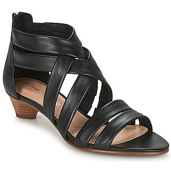 Pantofi Femei Sandale și Sandale cu talpă  joasă Clarks MENA SILK Negru