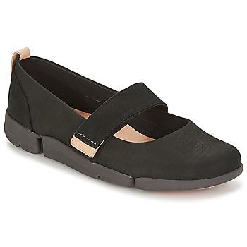 Pantofi Femei Balerin și Balerini cu curea Clarks TRI CARRIE Negru
