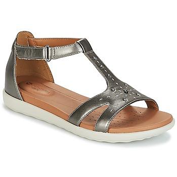Încăltăminte Femei Sandale și Sandale cu talpă  joasă Clarks UN REISEL MARA Argintiu