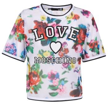 Îmbracaminte Femei Topuri și Bluze Love Moschino W4G2801 Alb / Multicolor