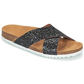 Pantofi Femei Papuci de vară Le Temps des Cerises FALONE Negru