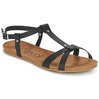 Pantofi Femei Sandale și Sandale cu talpă  joasă Casual Attitude IPLEM Negru