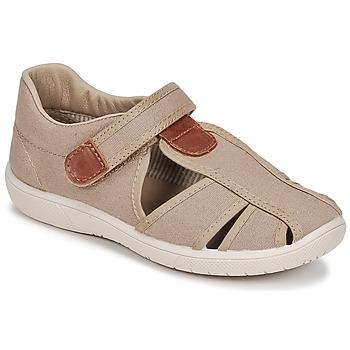 Pantofi Băieți Sandale și Sandale cu talpă  joasă Citrouille et Compagnie GUNCAL Bej