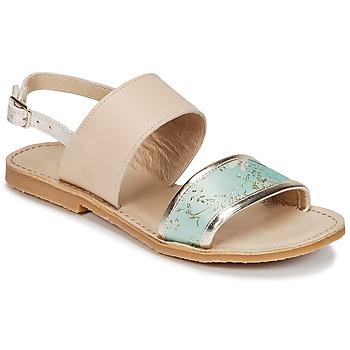 Pantofi Fete Sandale și Sandale cu talpă  joasă Citrouille et Compagnie IOCHARLI Bej / Albastru