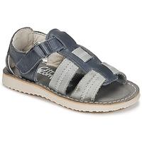 Pantofi Băieți Sandale  Citrouille et Compagnie IOUTIKER Albastru / Gri