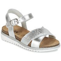 Încăltăminte Fete Sandale și Sandale cu talpă  joasă Citrouille et Compagnie GAUFRETTE Argintiu