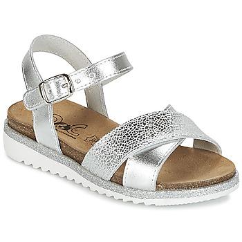 Pantofi Fete Sandale și Sandale cu talpă  joasă Citrouille et Compagnie GAUFRETTE Argintiu