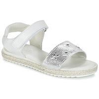 Pantofi Fete Sandale  Citrouille et Compagnie ILEVANDOK Alb / Argintiu