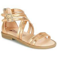 Pantofi Fete Sandale  Citrouille et Compagnie IMOURAT Auriu
