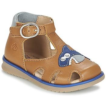 Pantofi Băieți Sandale și Sandale cu talpă  joasă Citrouille et Compagnie ISKILANDRO Maro / Albastru