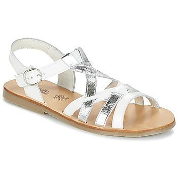 Pantofi Fete Sandale  Citrouille et Compagnie IMONGI Alb / Argintiu