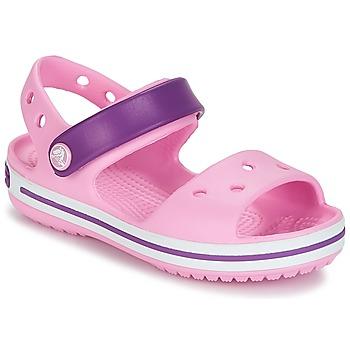 Pantofi Fete Sandale și Sandale cu talpă  joasă Crocs Crocband Sandal Kids Carnation / Pink / Purple