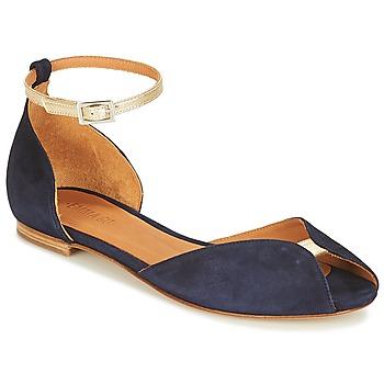 Pantofi Femei Sandale și Sandale cu talpă  joasă Emma Go JULIETTE Bleumarin / Auriu