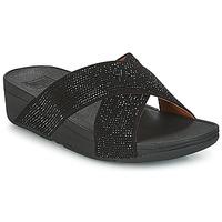 Încăltăminte Femei Papuci de vară FitFlop CRYSTAL II SLIDE SANDALS Negru