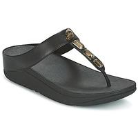 Pantofi Femei  Flip-Flops FitFlop ROKA TOE-THONG SANDALS Negru