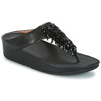 Pantofi Femei  Flip-Flops FitFlop CHA-CHA TOE-THONG SANDALS CRYSTAL Negru