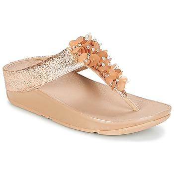 Pantofi Femei  Flip-Flops FitFlop BOOGALOO TOE POST Roz / Gold