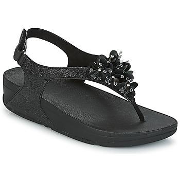 Încăltăminte Femei Sandale și Sandale cu talpă  joasă FitFlop BOOGALOO BACK STRAP SANDAL Negru