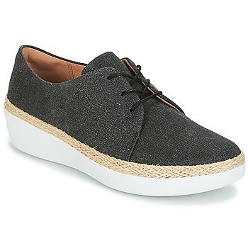 Pantofi Femei Pantofi sport Casual FitFlop SUPERDERBY LACE UP SHOES Negru