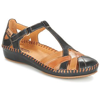 Încăltăminte Femei Sandale și Sandale cu talpă  joasă Pikolinos P. VALLARTA 655 Bleumarin / Camel