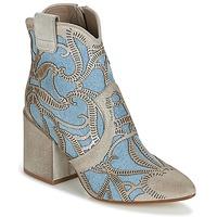 Pantofi Femei Botine Now MOVIDA Bej /  jeans
