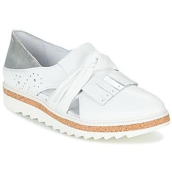 Pantofi Femei Mocasini Regard RASTAFA Alb / Argintiu