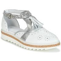 Încăltăminte Femei Pantofi Derby Regard RASTANU Alb / Argintiu