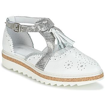 Pantofi Femei Pantofi Derby Regard RASTANU Alb / Argintiu