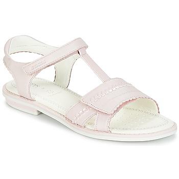 Pantofi Fete Sandale și Sandale cu talpă  joasă Geox J S.GIGLIO A Roz